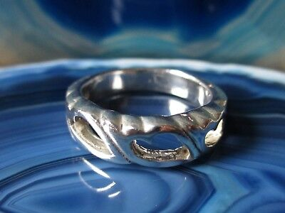 Special Section Ring Sterling Silver 925 With 3 Hearts Breakthrough Pattern Silver Ring Precious Metal Without Stones