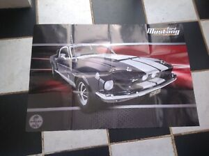 Build Your Own Mustang >> Details About Deagostini Build Your Own Ford Mustang 1967 Shelby Gt 500 Series Guide Poster