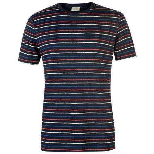 Jack and Jones Striped T Shirt Mens Gents Crew Neck Tee Top Short Sleeve Cotton