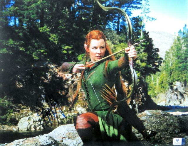 Qté Avail Hobbit la bataille des cinq armées Evangeline Lilly autographe Auto #EL