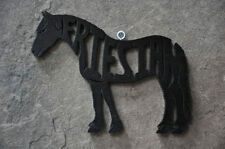 Friesian Horse Wood Christmas Ornament Tack Room Decoration