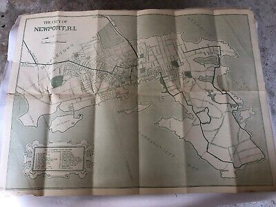 Rhode Island Vintage Old Panoramic City Map 1888 Wickford 16x24