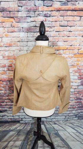 Kyo in marrone Cammello Soia donna Moto pelle con Xs da morbida bottoni Vespa Aritzia Giacca dqSXwrSg