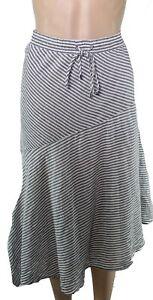 Lauren by Ralph Lauren Womens Skirt Gray Size 2 Stripe Asymmetrical $115 048
