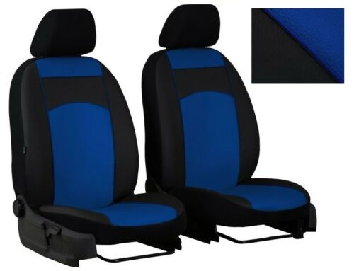 W639 Blue Eco-Leather Universal Front Seat Covers fit MERCEDES VITO W638