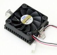 Avc Z5m3008001 5v 50x50mm Cpu Heatsink Cooler Fan W/tachometer, Lot Of 2