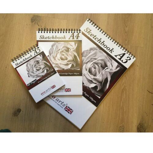 Sketch Book Dibujo PAD CARTUCHO PAPEL BLANCO Espiral Cuaderno De Bocetos Papel Libre De Ácido