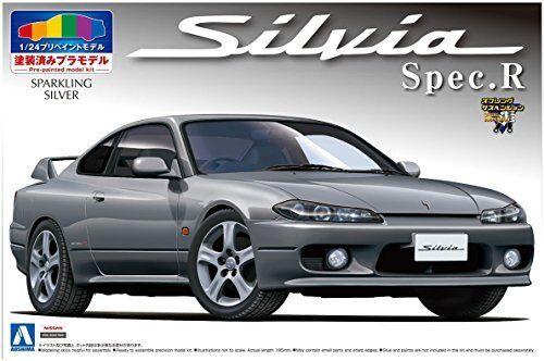 Aoshima Nissan S15 Silvia Spec.r Vino Espumoso Espumoso Espumoso Plata Maqueta de Plástico en Kit e9a757