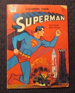 1965 SUPERMAN Missle Base Mystery - Whitman Coloring Book G/VG 3.0 ...