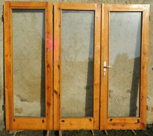 Super Holztür Tür 3 Flügel Wintergarten Garten Haus massiv Holz Kiefer EH17