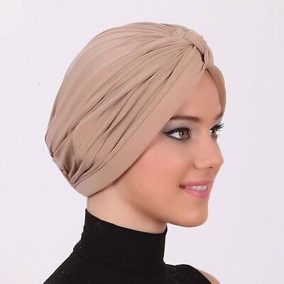US Seller NEW WOMEN Bonnet Cancer Chemo Hijab Turban Cap Beanie Hat Scarf W