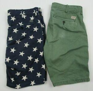 Lot-of-2-Denim-amp-Supply-Ralph-Lauren-Men-039-s-Shorts-USA-Merica-Size-31