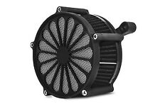 """DNA BLACK """"SS2"""" AIR CLEANER FILTER KIT CV CARB OR FUEL INJECTION HARLEY BIG TWIN"""
