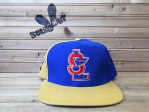 Vintage-90s-Sports-Specialties-St-Louis-Blues-NHL-Snapback-Hat-Center-Ice