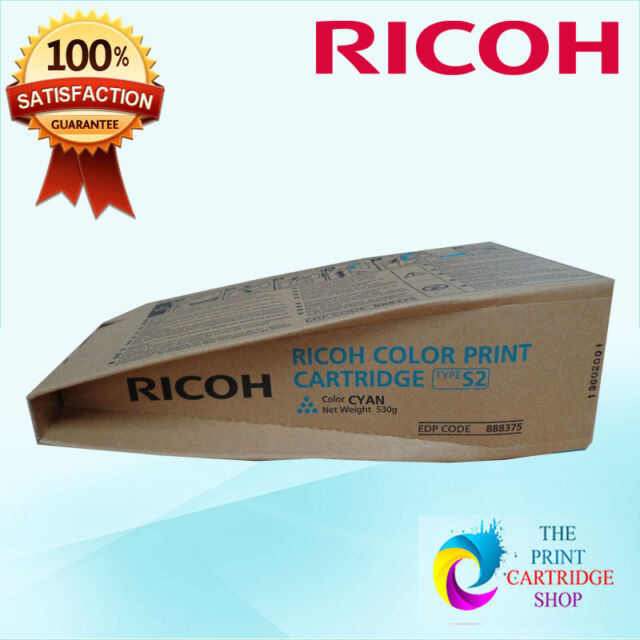 New & Original Ricoh Type S2 888375 Cyan Toner Cartridge Aficio 3260C 5560C 11K