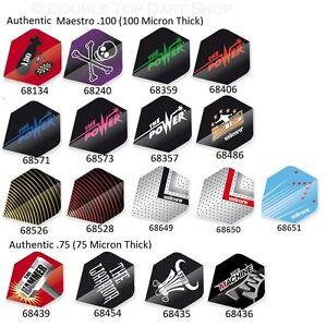Unicorn Maestro 100 Micron Et Authentique 75 Micron Joueur Dart Vols-afficher Le Titre D'origine à Vendre