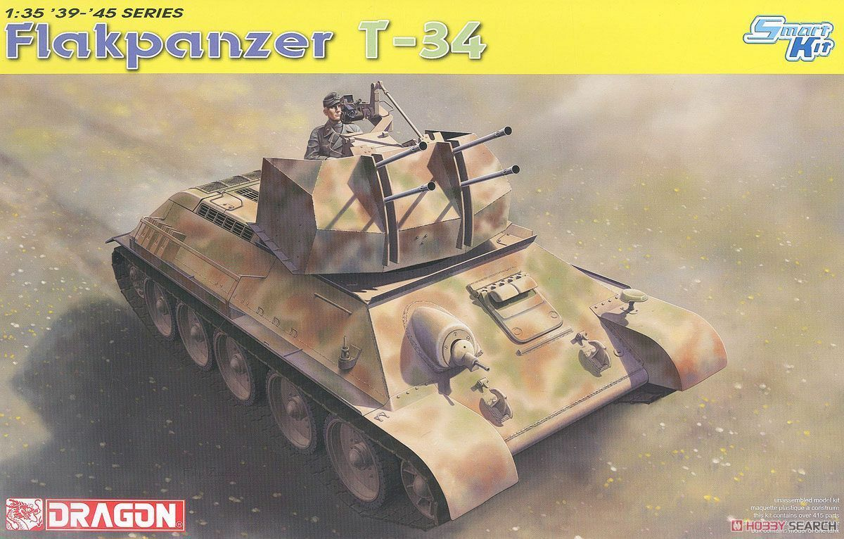1 35 DRAGON Flakpanzer T-34r - Smart Kit