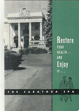 Vintage Booklet for Saratoga Spa Saratoga Springs New York