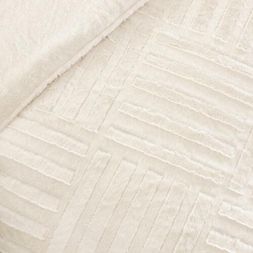 COZY ULTRA SOFT /& PLUSH FUR MODERN CHIC TEXTURE IVORY WHITE COMFORTER SET NEW!