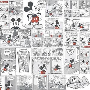Detalles Acerca De Disney Mickey Minnie Pato Donald Comic Cartoon Childrens Wallpaper Negro Blanco Mostrar Título Original