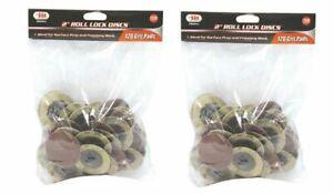 "100 PACK 2/"" Roll Lock Sanding Discs 60 GRIT Roloc Abrasive Pads Auto Body Type R"
