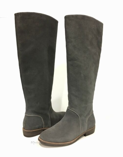 UGG 1020257 DALEY EQUESTRIAN BOOTS GRAY SUEDE -US SIZE 6 -NEW