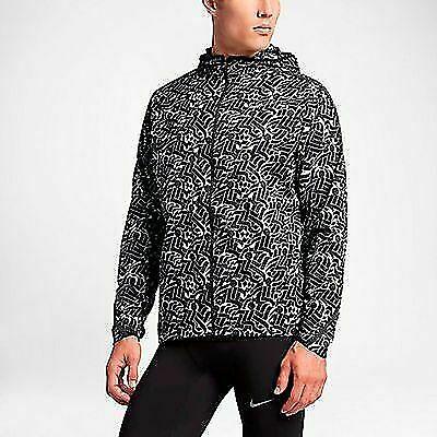 eced02065cc77 Nike Mens City Core Jacket White Black Sz Med 833549 100 for sale online |  eBay