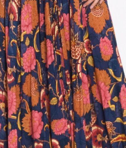 Jaase Leah Caviar Print Maxi Dress Floral Bohemian Sz XS /& S NWT