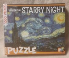 """Van Gogh STARRY NIGHT Painting 1000 piece Jigsaw Puzzle 29"""" x 19"""" Go Games NEW"""