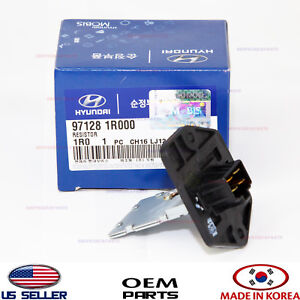 Details about BLOWER MOTOR RESISTOR GENUINE!!! HYUNDAI ACCENT VELOSTER  2012-2017 971281R000