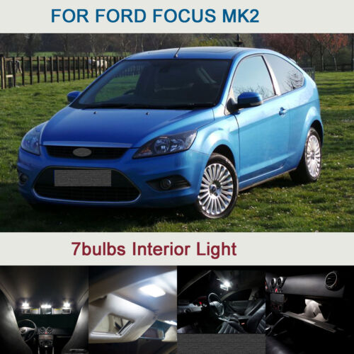 7Ps Xenon Pure White Upgrade Interior Light LED Bulbs Can-bus FOR FORD FOCUS MK2
