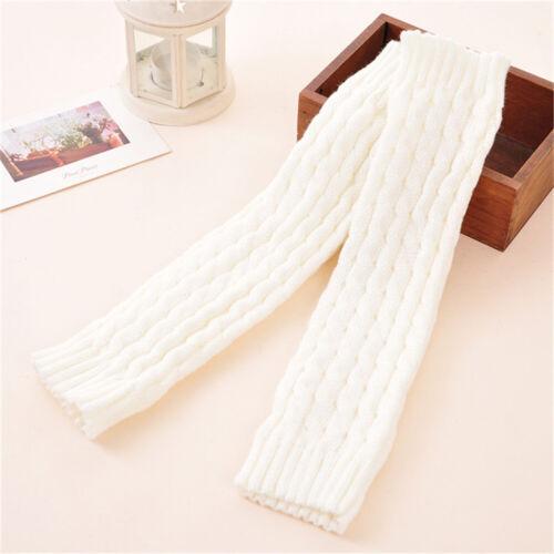 Women Winter Warm Crochet Knit Fur Trim Leg Warmers Cuffs Toppers Boot Socks New