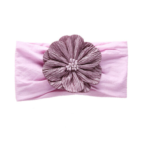 15 Colors Elastic Flower Headbands For Girls Baby Headdress Turban Hair Bands