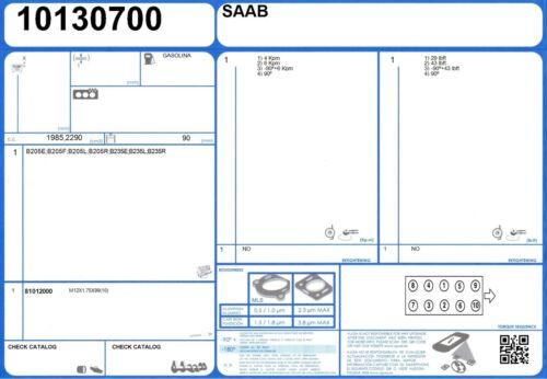 Cylinder Head Bolt Set SAAB 900 16V 2.3 150 B234i 1995-1998