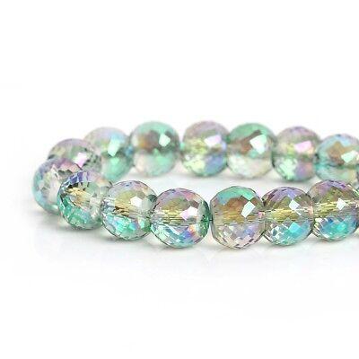17mm x 8mm couleur Bleu AB 10 Perles goutte Verre à facettes