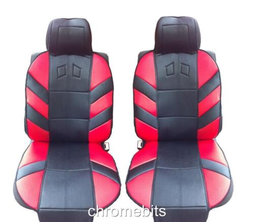 FRONT RED CUSHION PADDED SEAT COVERS FOR PEUGEOT 206 307 407 208 308 MPV 3008