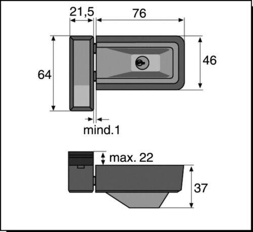 ABUS 3030 Fensterschloss Fenstersicherung  Zusatzsicherung weiß gleichschließend
