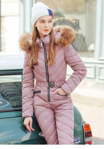 Winter  Womens Warm Ski Suit Waterproof Jumpsuit Snow Suit Outdoor Sport Romper