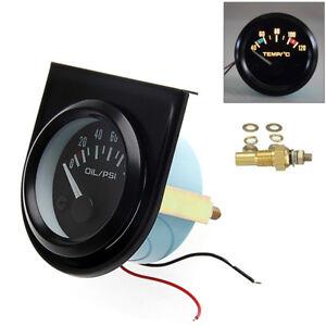 52-mm-Thermometre-Jauge-Temperature-Eau-Avec-Aiguille-Voiture-40-120-LED
