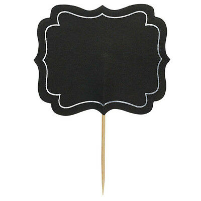 CHALKBOARD WRITE ON PARTY FOOD LABELS  COCKTAIL STICKS PICKS DECORATION X 24