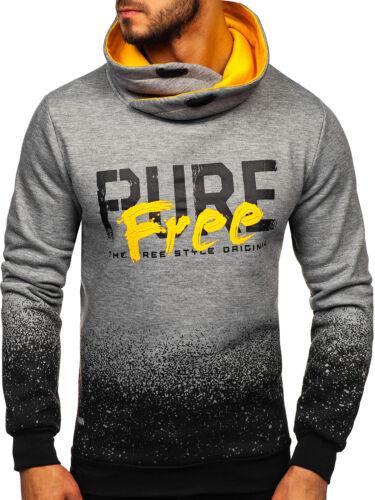 Sweatshirt Langarmshirt Pullover Sport Pulli Print Herren Mix BOLF 1A1 Motiv WOW