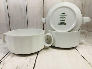 3  Jahre Rosenthal Studio Line Polygon White Cream Soup Bowls