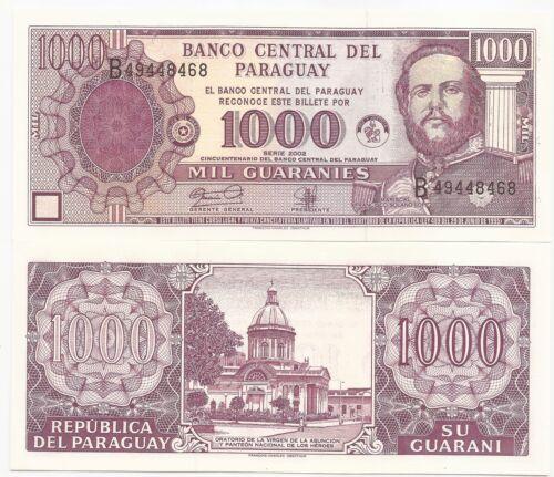 PARAGUAY 1,000 GUARANIES P-221 Y 2002 COM UNC CAT PR $2