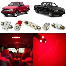 13x Red Led Interior Lights Package Kit For 1998 2004 Chevrolet S10 Tool Cs7r