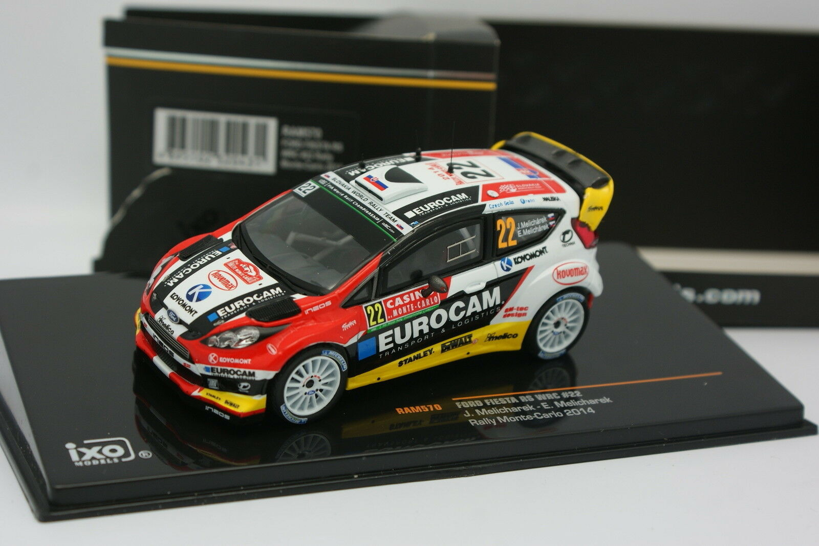 Ixo 1 43 - Ford Fiesta RS WRC Rallye Monte Carlo 2014 N°22