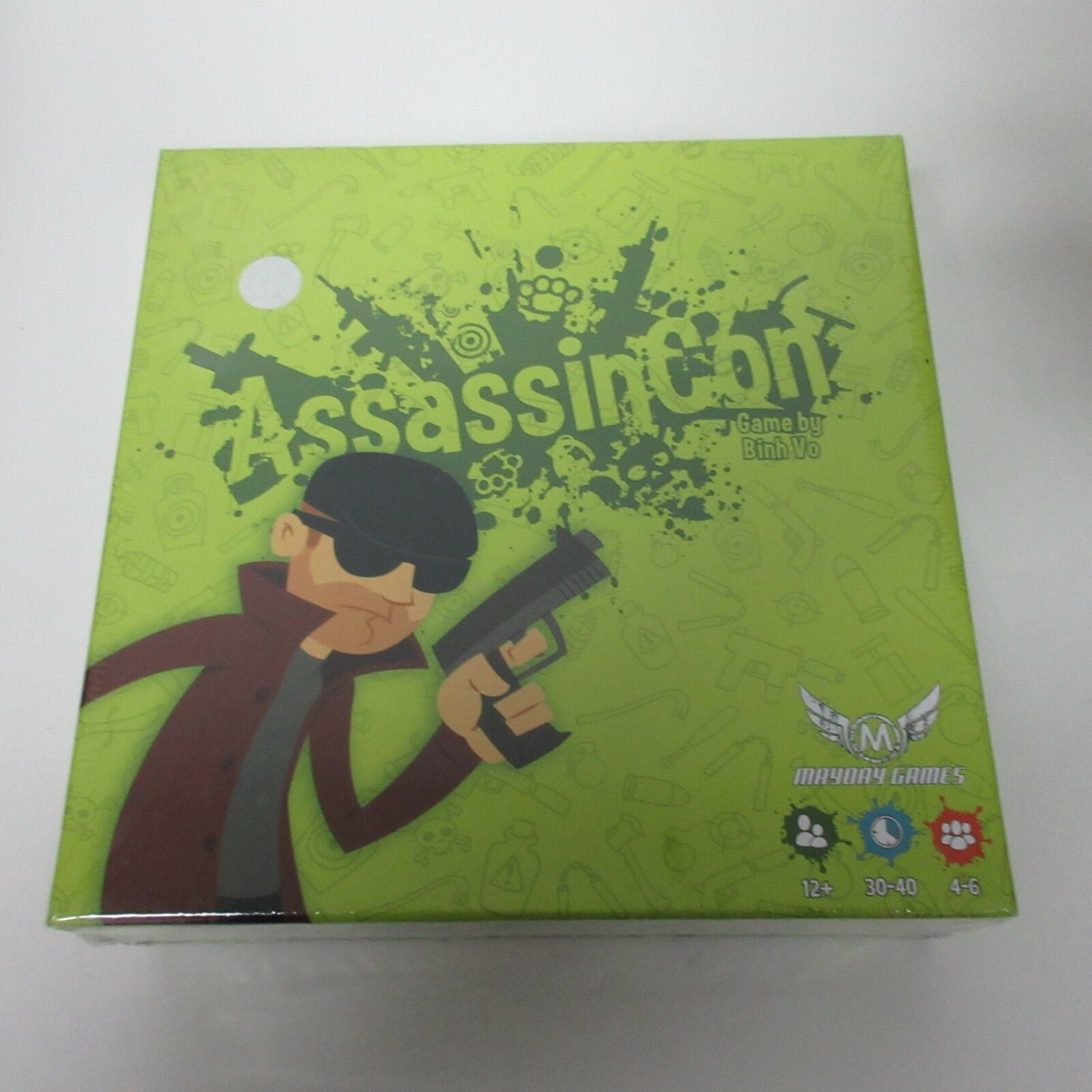 Mayday Games AssassinCon Board Game NEW