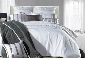 Nova-Silver-White-Striped-Quilt-Cover-3pcs-Sequins-Duvet-Cover-Set-Queen-King