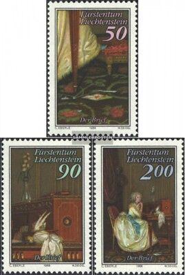 Kind-Hearted Liechtenstein 957-959 Usado 1988 El Carta edición Completa