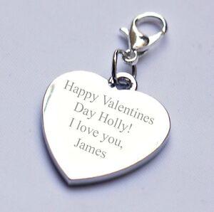 Gravierbar Personalisiert Charm Valentinstag Jeder Text / Nachricht/wortlaut
