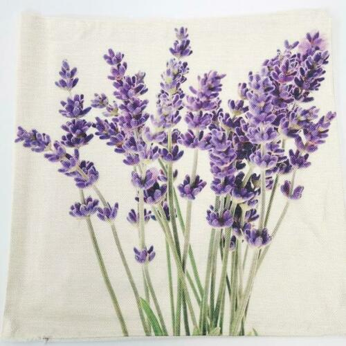 """17"""" Lavender French Country Cushion Pillow Cover Sham Floral 43cm Square"""